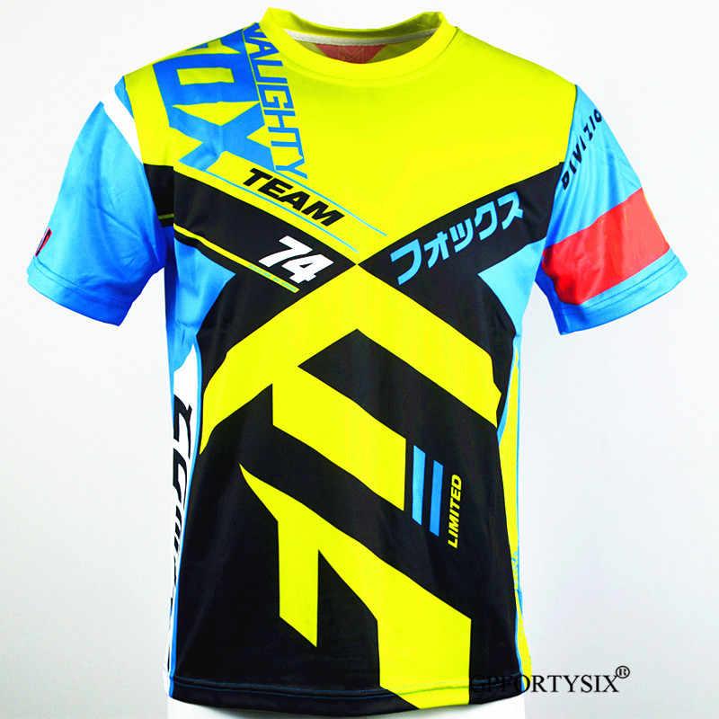 2020 Nakal Fox MX Enduro Downhill Jersey Sepeda Gunung Balap Pakaian DH MTB Kemeja BMX Motocross T Shirt Pria