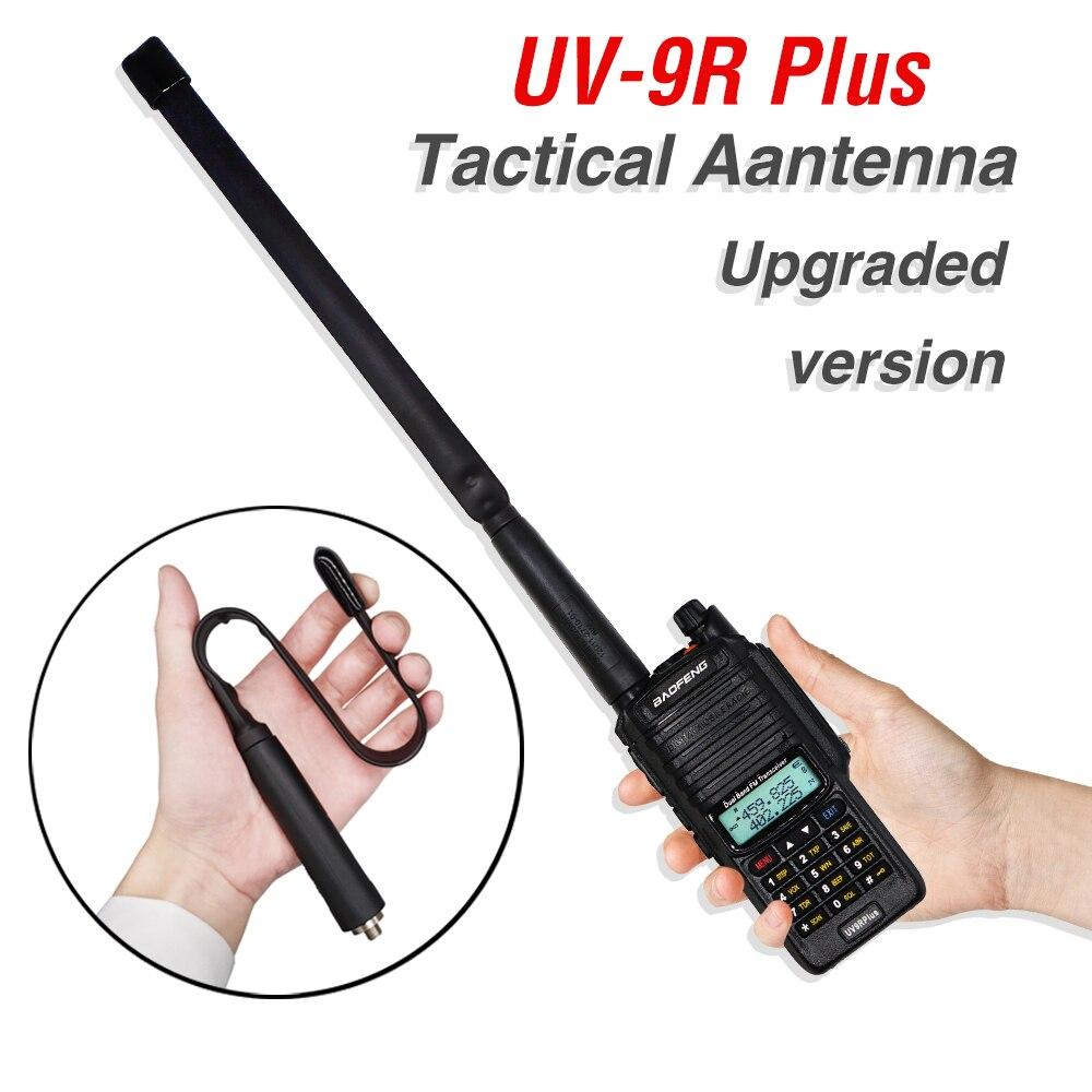 Тактическая Складная антенна SMA-Female, 33/72/108 см, для двухсторонней радиосвязи Baofeng Plus, UV9R plus, uv9r, для рации Baofeng, с возможностью поворота на два ка...