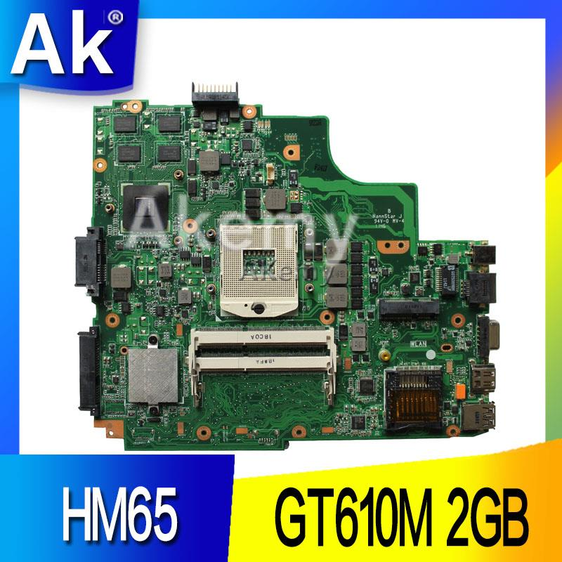 AK  K43SD Laptop Motherboard For ASUS A43S K43S A84S K43SD Mainboard 100% OK  HM65 GT610M 2GB