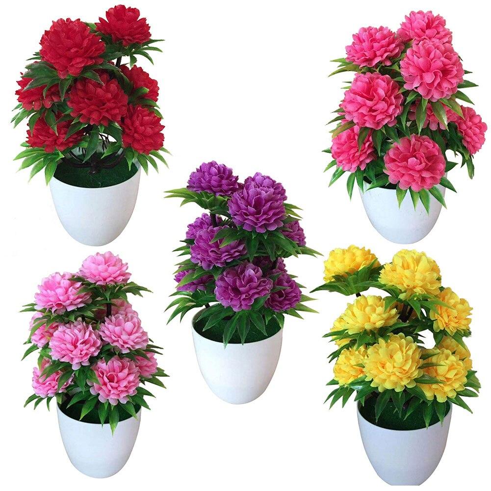 Практичная искусственная Хризантема бонсай Горшечное растение имитация искусственная Цветочная подделка цветочный пейзаж домашний Цветочный декор 1 шт. Искусственные и сухие цветы      АлиЭкспресс