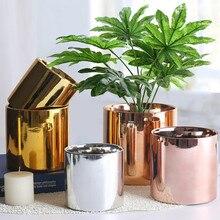 Горячая Распродажа креативный металлический цветочный горшок садовый горшок суккуленты ваза железная подставка для цветов украшение дома