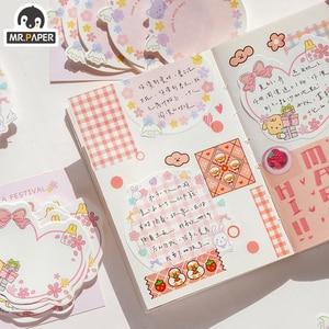 Mr. Бумага 30 шт./лот 6 видов конструкций девичьи Сакура вишня Примечание серии с отрывными листами бумага из блакнота для Творческий празднования Рождества блокнот для записей