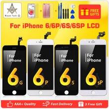 Ücretsiz Kargo AAA Kalite 100% Iyi Çalışma LCD Dokunmatik Ekran Cam Sayısallaştırıcı Ekran Meclisi iPhone 6 S Artı araçları kiti