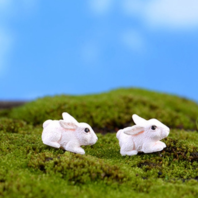 Mini Rabbit Garden Ornament Miniature Figurine 5