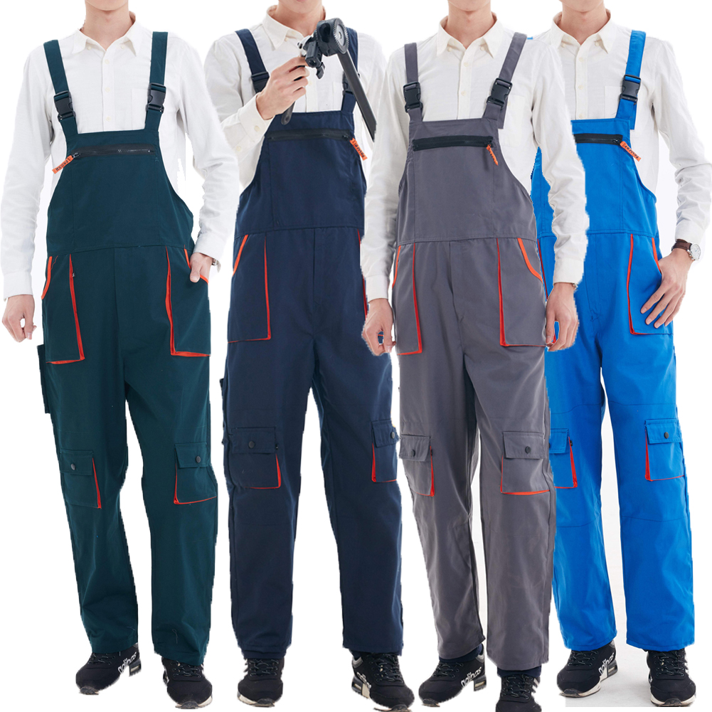Ladies Womens Bib And Brace Painters Overalls Coveralls Dungarees Work Trousers