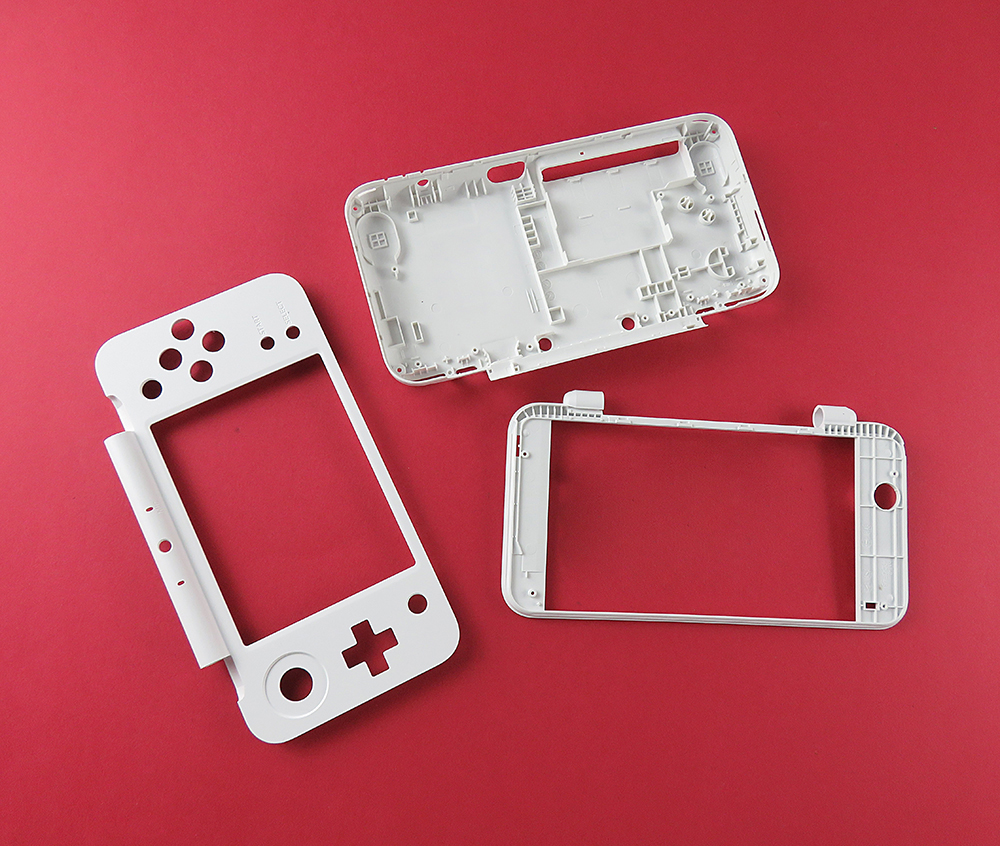 For New 2DS XL LL For New 2DS LL White Plastic Housing Shell Case Replacement Part Plate Set