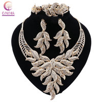 CYNTHIA Fashion Jewelry Sets African Beads Jewelry Set Dubai For Bridal Gold Color Wedding Bridal Necklace Earrings Jewelry Sets
