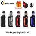 Оригинальный комплект Geekvape Aegis Solo 100 Вт электронная сигарета мод с резервуаром Cerberus 5 5 мл испаритель наборы vs aegis mini