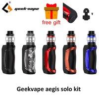 Original Geekvape Aegis Solo Kit 100W Vape Electronic Cigarette Mod with Cerberus Tank 5.5ml Vaporizer Kits vs aegis mini