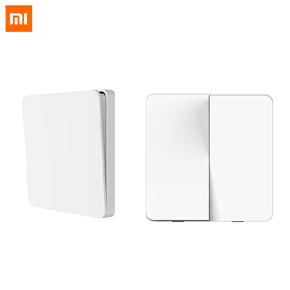 Xiaomi Mijia Smart Switch Wall Switch Single Double Open Dual Control 2 Modes Over Intelligent Lamp Light Switches For Smarthome