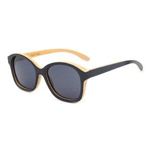 Women double color bamboo sunglasses nat