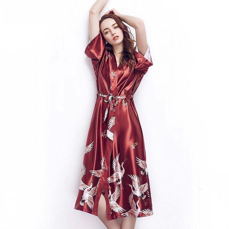 Plus Size Women's Silk Sexy Nightgowns Night Wear Dress Shirts Sleepwear Woman Nighty Summer Sleep Lounge Negligee Home Clothing