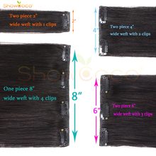 Remy Human Hair Clips Silky Straight