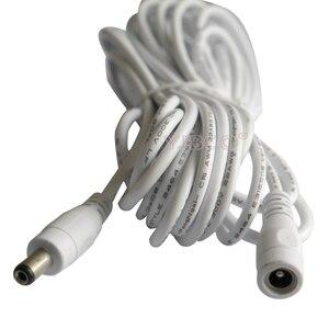 Image 5 - מכירה לוהטת 1 m 2m 3m 5 m DC 5.5x2.1mm dc כבל חשמל תקע עם הארכת חוט נקבת DC זכר ג ק מתאם