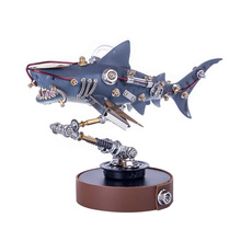 217Pcs DIY Metal Mechanical Variant Shark 3D Assembly Puzzle Model Kit Ornaments Miniature Models Home Decoration For Gifts