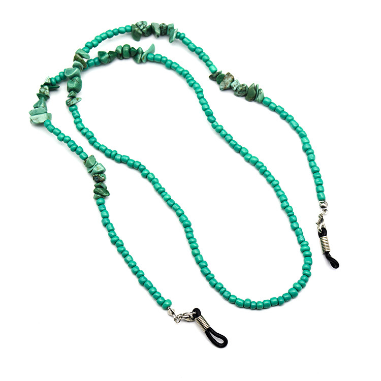 Turquoise Reading Glasses Chain Sunglasses Holder Neck Strap Rope Necklace Pendant Fashion Eyeglass Glasses String Lanyard