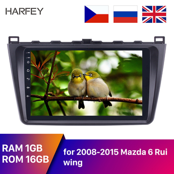 Harfey Android 8.1 2DIN Car Radio Audio GPS Multimedia Player for Mazda 6 Rui wing 2008 2009 2010 2011 2012 2013 2014 with AUX image