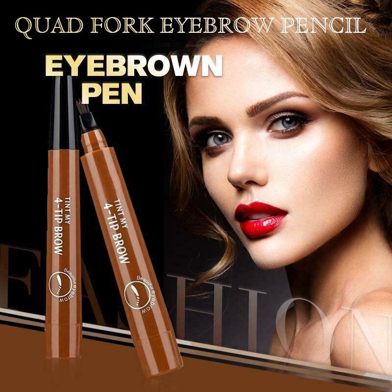 Hot 4 Points Eyebrown Pen Waterproof Fork Tip Long Last Sweat-proof Eyebrow Pen Pencil CNT 66