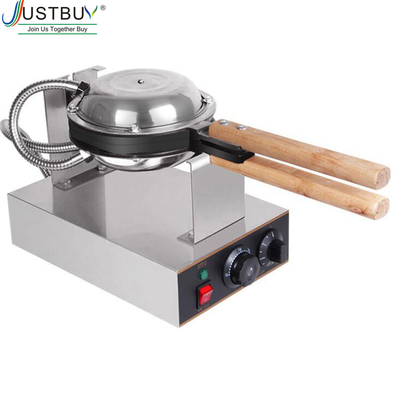Commercial Electric Egg Bubble Waffle Maker Machine Hong Kong Eggettes Bubble Puff Cake Iron Maker Cake Oven