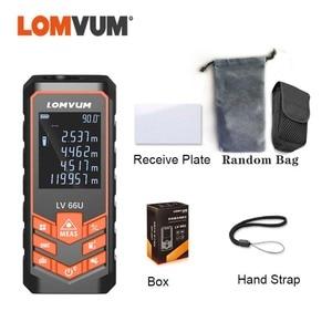 Image 5 - LOMVUM 66U Laser Rangefinder Digital Laser Tape Leveling Device 40M 80M 120M Ruler Instrument Build Measure Device Trena Laser