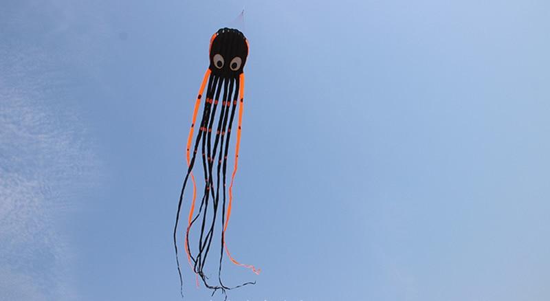 8m grand coloré poulpe ceinture de ventilation poignée ligne cerf-volant surf mignon animal cerf-volant adulte jouets amusants pour enfants pieuvre cerf-volant - 4
