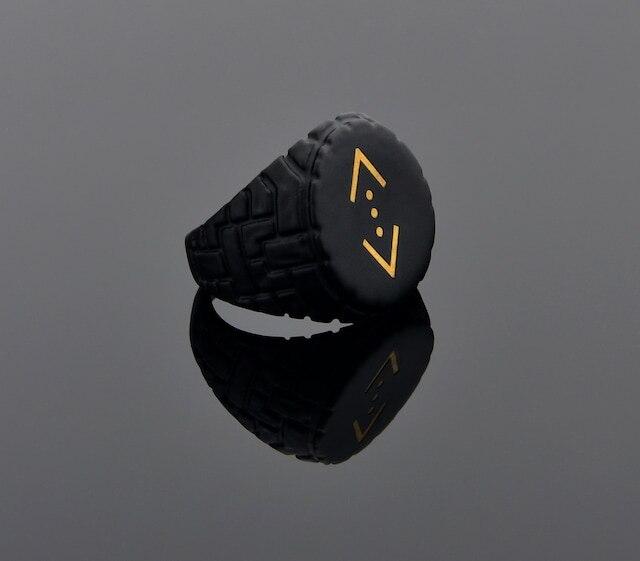 Матовое черное шестиугольное регулируемое кольцо с последовательностью наклона кодисвали YÜZ0070