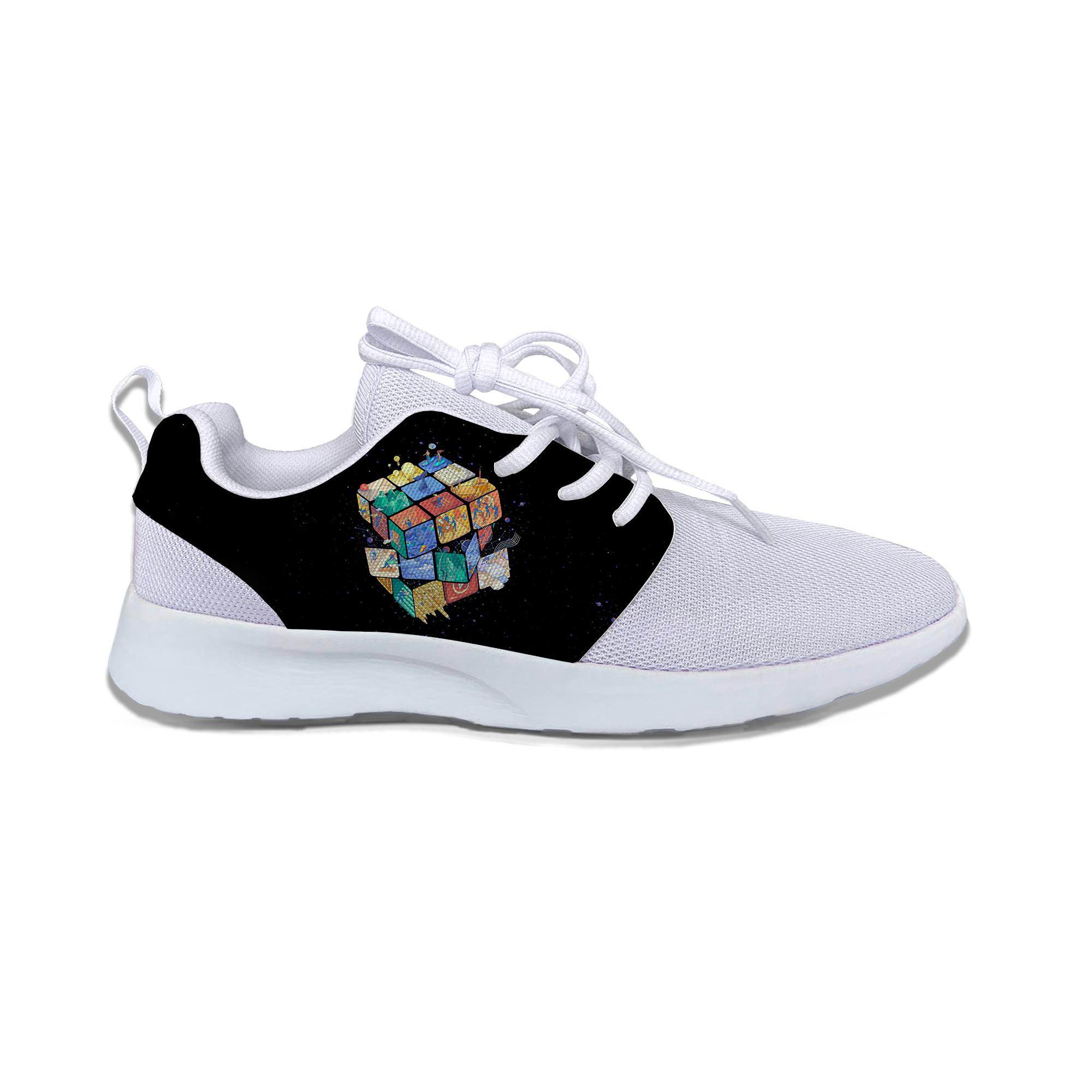 Rubik's Cube Hot Cool Cartoon Sport Running Shoes Funny Kids Breathable Lightweight Mesh Sneakers Gift For boys girls Children