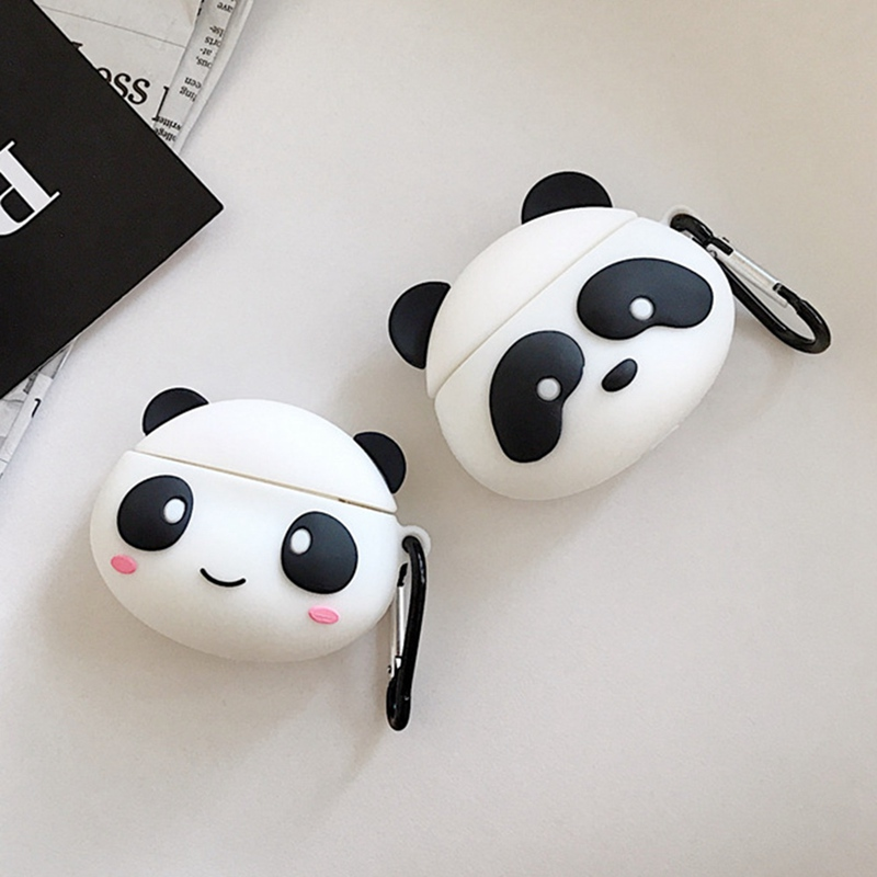 Earphone Case For Airpods Case Silicone Cute Panda Cartoon Soft Headphone Case For Apple Air Pods Earpods Cover