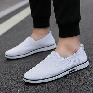 Image 4 - Zapatos informales para hombre, calzado Formal, plano, blanco, moda, 7 11