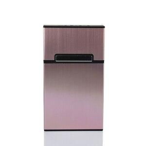 1 шт. Новый ультра тонкий модный чехол для сигарет тонкий металлический ящик алюминиевая Подарочная коробка мини-держатель для сигарет для дома