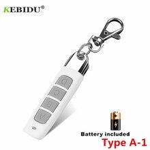 KEBIDU clonage télécommande électrique copie contrôleur émetteur interrupteur 4 boutons porte de Garage porte clé à distance 433MHZ Auto paire
