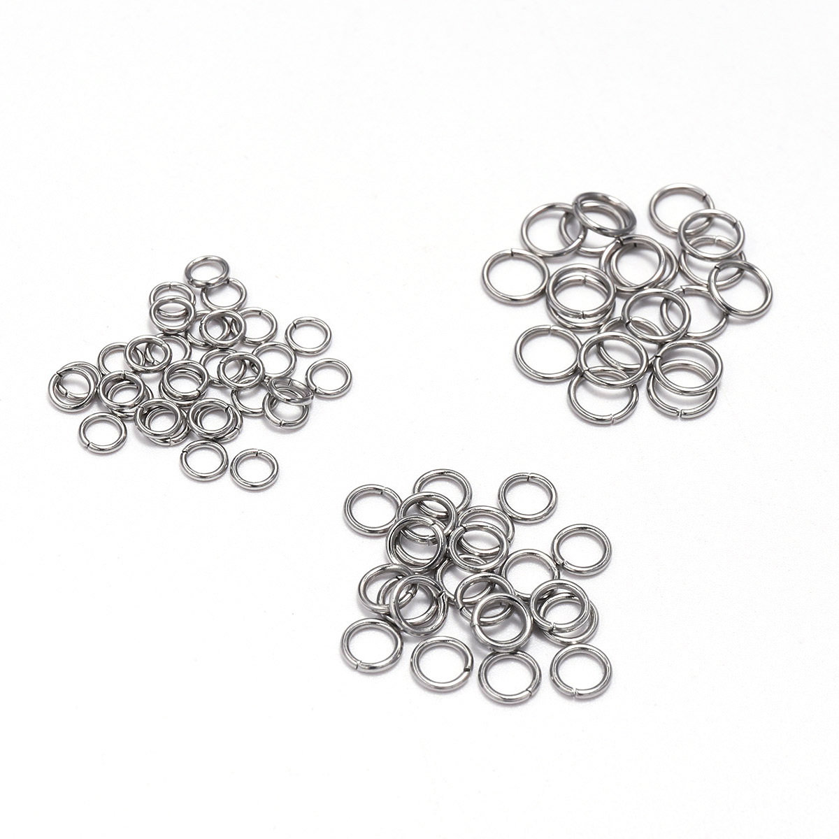 200pcs/Lot 4 5 6 8 10mm Stainless Steel Open Jump Rings Split Rings Connector For Jewelry Making Findings Accessories Supplies