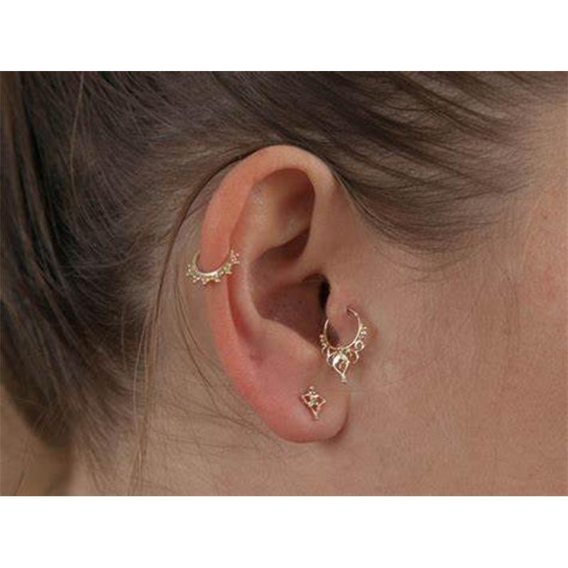 16G Nose Ring Rainbow Opal Septum Ring Nose Piercing Earring Cartilage Hoop Helix Earring Tragus Jewelry Conch Earring