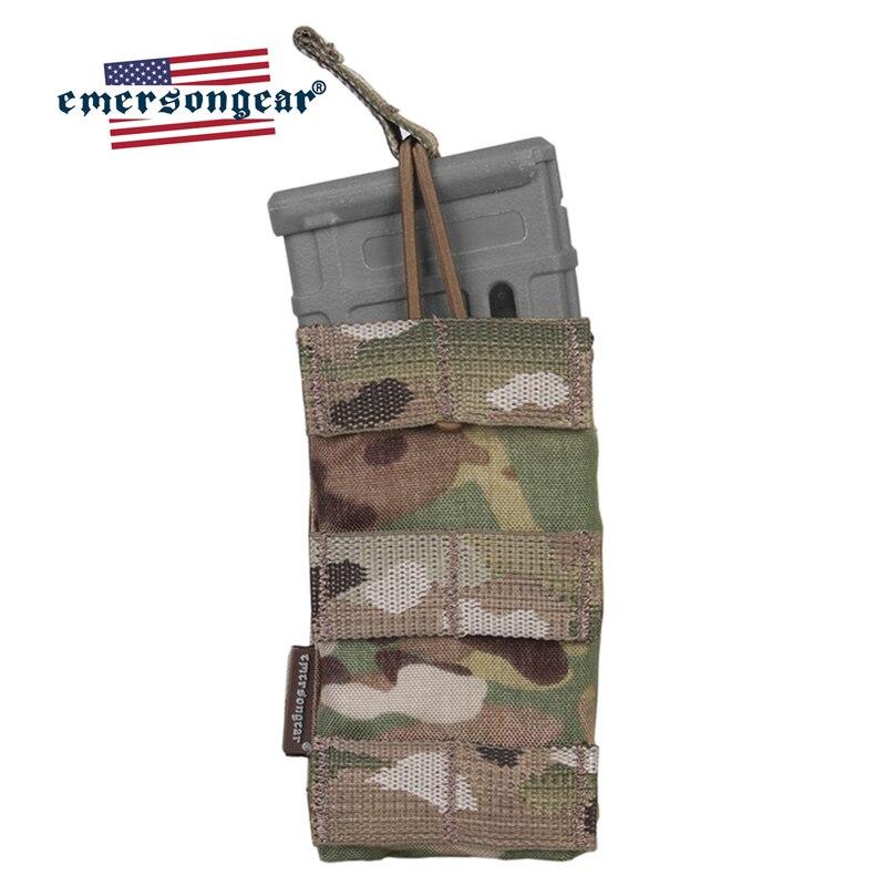 Emersongear M4 pochette de magazines unique tactique modulaire haut ouvert 5.56 223 poche magnétique Airsoft chasse MOLLE PALS sangle poche magnétique