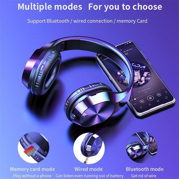 CARPRIE New Portable Wireless Headphones Bluetooth Stereo Foldable Headset Audio Mp3 Adjustable Earphones with Mic for Music