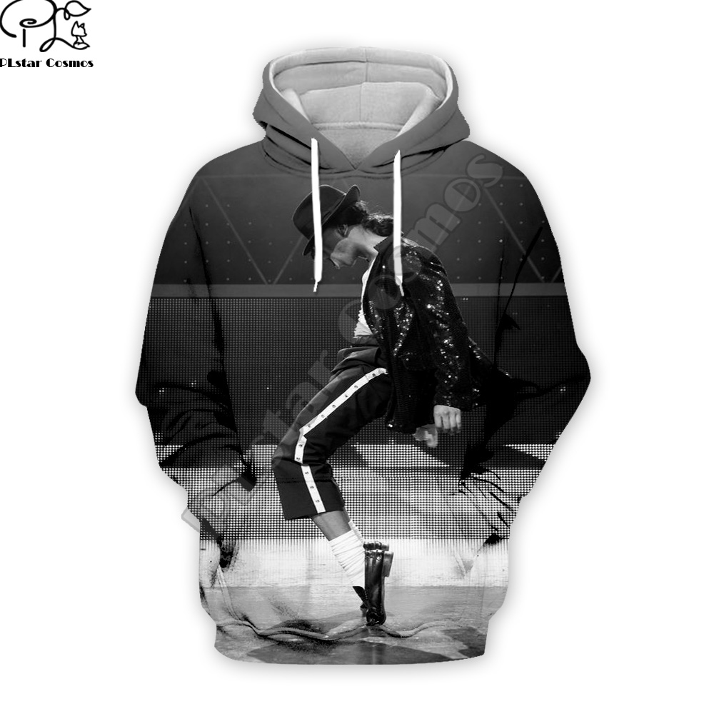 PLstar Cosmos Pop King Michael Jackson casual colorful 3DPrint Hoodie/Sweatshirt/Jacket/shirts Mens Womens hip hop Spacewalk s-8