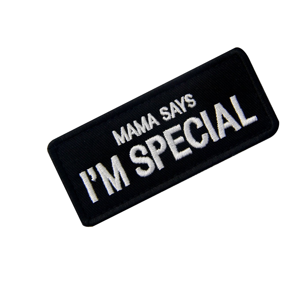Ao Tu Duo Er Embroidered Shoulder Emblem Velcro Mom Said I Was Special Cool DIY Cloth Label