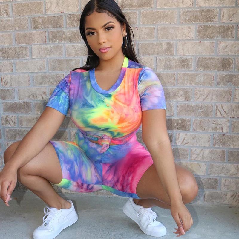 Женская футболка с коротким рукавом комплект для йоги из 2 предметов