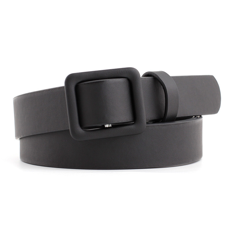 2020 New Designer Women's Cute Black Red White Brown Wide Leather Waist Belt Female Decorative Strap Belts For Women Dresses