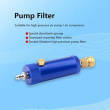 Пейнтбол PCP фильтр насоса с предохранительный клапан высокого давления сепаратор воды масла фильтрация воздуха 30mpa 4500psi M10x1 Резьба 50 см шланг