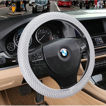 New Universal Soft Warm Long Wool Fuzzy Steering Wheel Cover Woolen Handbrake Car Accessory Sheep Fur Plush Protector Cover Kit image