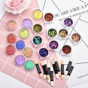 Image 5 - BeautyBigBang 2PCS 0.1g Chameleon Effect Flake Nails Accessories Sequins Mirror Powder Chrome Pigment Glitter Nails Art