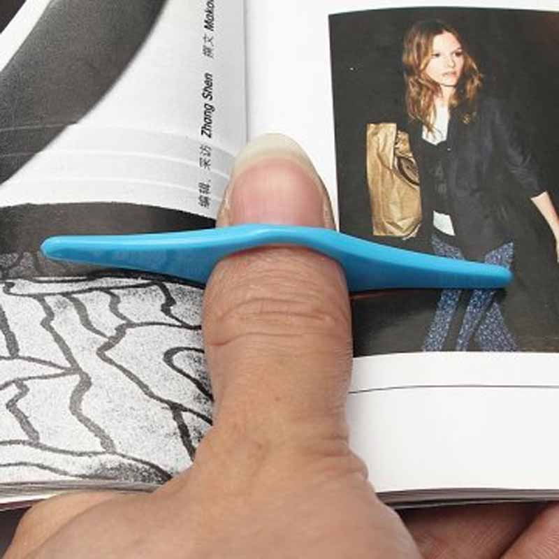 Multifunction Thumb Book Page Holder Marker Finger Ring Bookmark Plastic Convenient Reading Helper Book Mark  GK99
