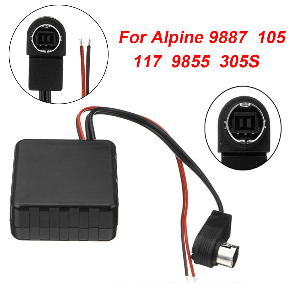 Car ABS <font><b>Bluetooth</b></font> <font><b>Adapter</b></font> <font><b>12V</b></font> <font><b>AUX</b></font> Module Cable For Alpine JVC CVA IVA IDA CDA 9887/105/117/9855/305S <font><b>Bluetooth</b></font> <font><b>Adapter</b></font> image