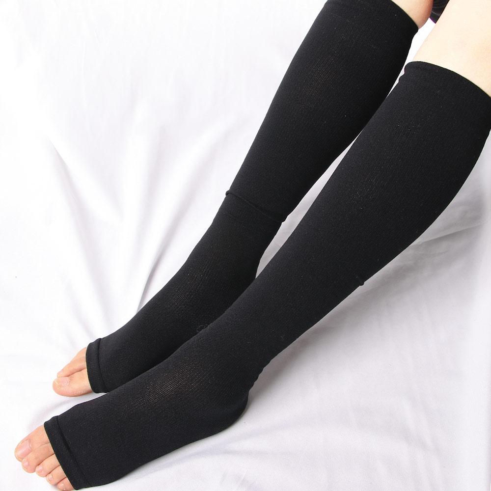 Носки компрессионные унисекс, мужские/женские дышащие высокие, облегчение боли в ногах, с открытым носком, 1 пара