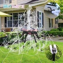 5m 7m aranha gigante teia grande aranha estiramento cobweb quintal decorações de halloween ao ar livre decoração do dia das bruxas favor triangular mega web