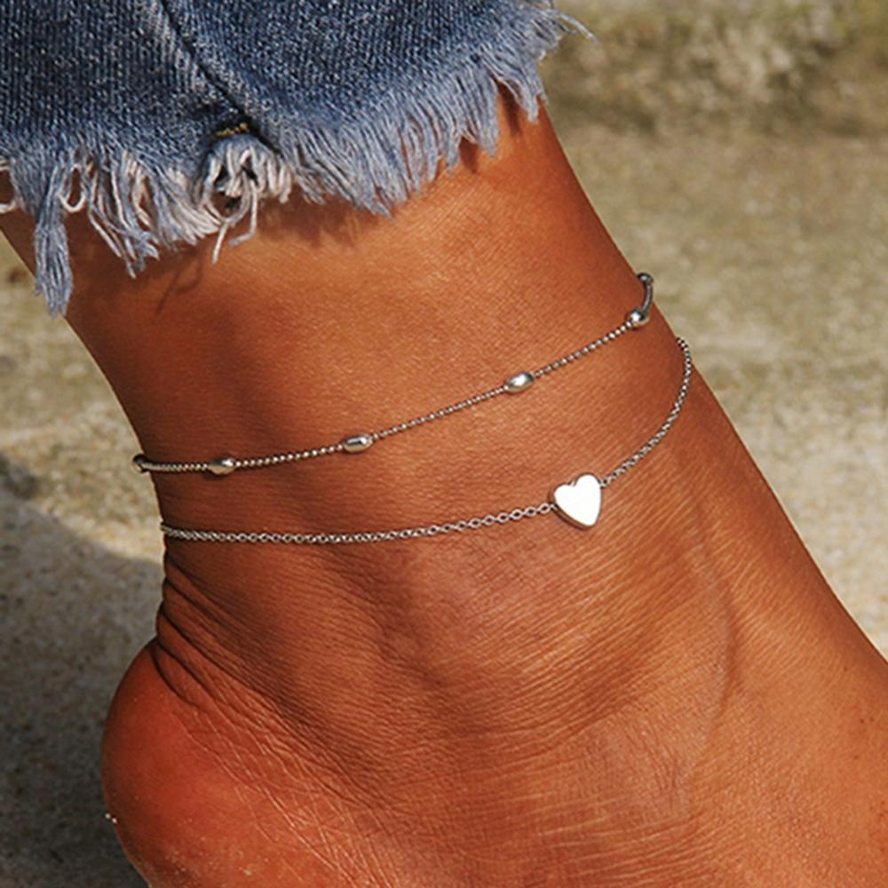 Women Europe And The United States Jewelry Bohemian Wind The Trend Crystal Beaded Multi-layer Constellation Beach Barefoot Sandal Foot Jewelry Anklet Chain