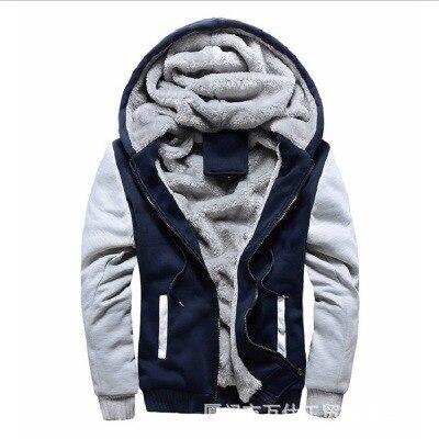 Sport Plush Heavy Men's Coat New Men's Sweater Hooded Autumn Winter Men's Baseball Suit