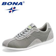 Bona 2020 Новые Дизайнерские повседневные мужские туфли легкие