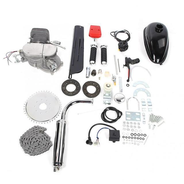 100cc vélo moto moteur Kit 2 temps essence motorisé moto Kit pour bricolage vélo électrique ensemble complet vélo moteur à essence